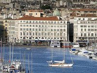 Grand Hotel Beauvau from across the Marseille Old Port