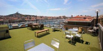 Roof terrace, Hotel Hermes, Marseille