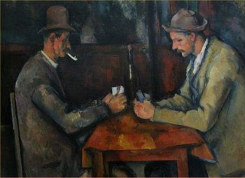 The Card Players by Paul Cezanne Musee d'Orsay