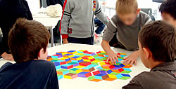 Children's workshop at the Vasarely Foundation Aix en Provence