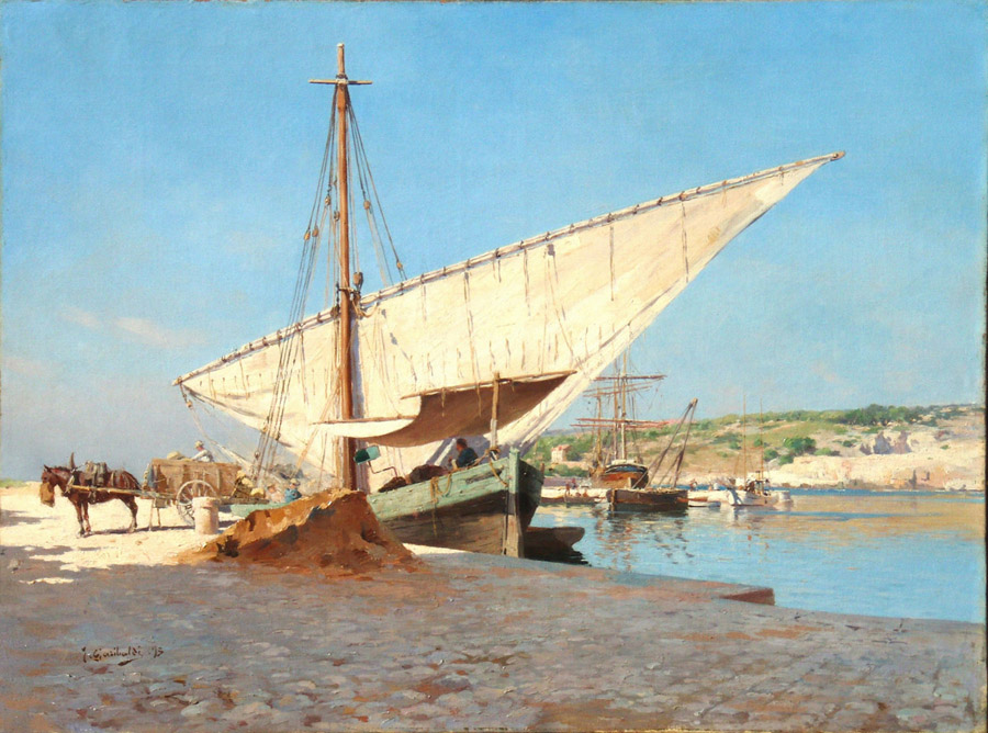 Big Sailing Ship in Cassis by Joseph Garibaldii