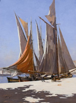 Three Sailing Boats by Joseph Garibaldi