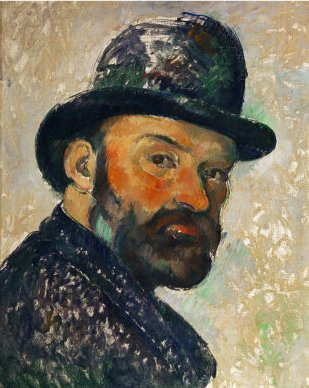 Paul Cezanne, Self-Portrait with Bowler Hat