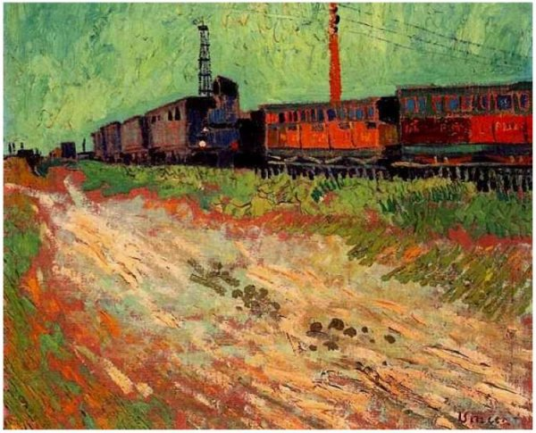 railway carriages by van gogh