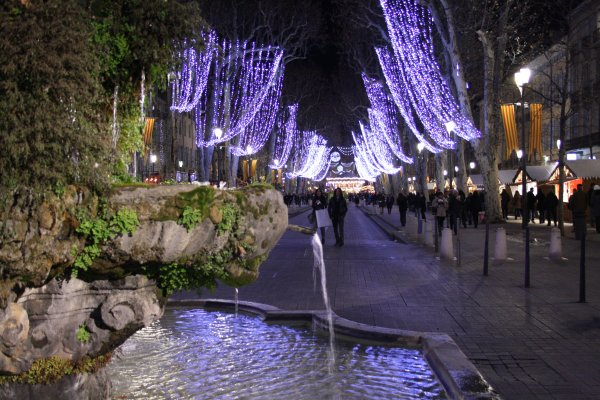 Cours Mirabeau, Aix en provence at Christmas