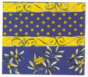 Indiennes provencal fabric, with cicadas