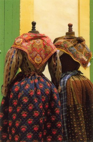 Traditional provencal costumes from the Souleiado Museum