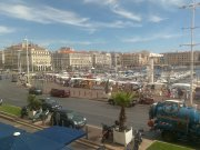 View of the Marseille Old Port from the Caravelle bar