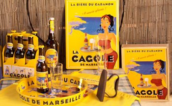 Merchandising for La Cagole beer in Marseille