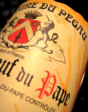 Wine label, Chateauneuf-du-Pape