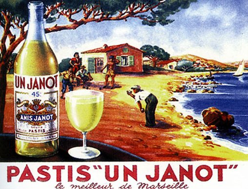 Advertisement for Janot pastis