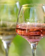 Glass of provencal rose wine