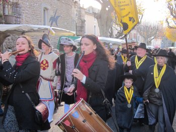 ban des truffes richerenches procession