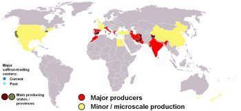 saffron modern world production