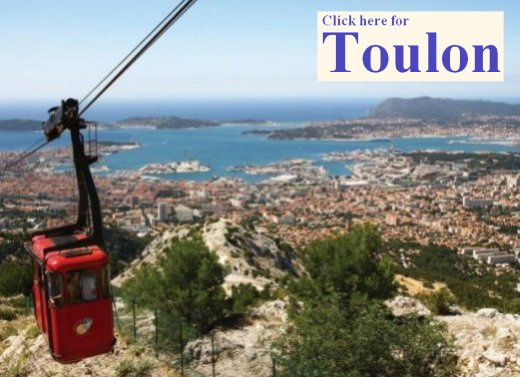The cable car up Mont Faron in Toulon