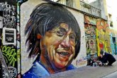 Marseille street art portrait of Charlie Hebdo cartoonist Jean Cabut