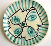 picasso ceramic plate small