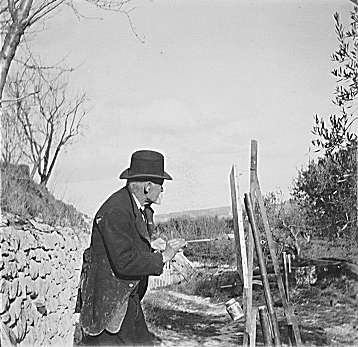 Paul Cezanne, photographed by Kerr-Xavier Roussel in January 1906