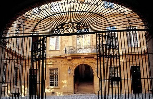 The gates of the Town Hall in Aix en Provence