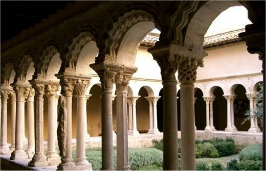 The cloisters of Saint Sauveur Cathedral in Aix en Provence
