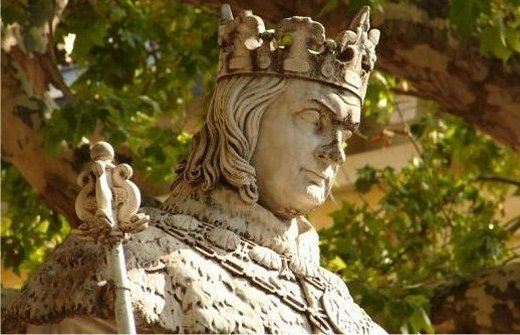 Statue of Good King Rene on the Cours Mirabeau in Aix en Provence