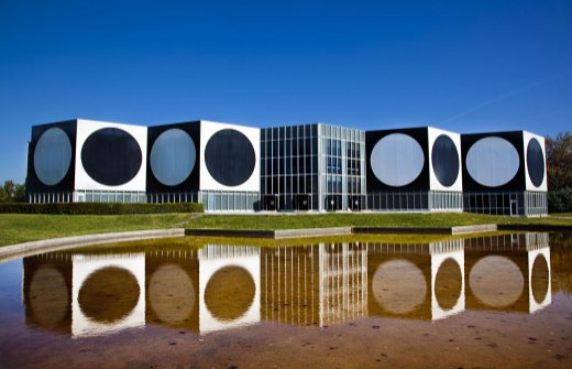 The Fondation Victor Vasarely in Aix en Provence