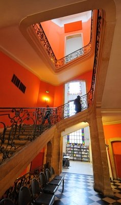 The staircase of the Hotel de Caumont, Aix