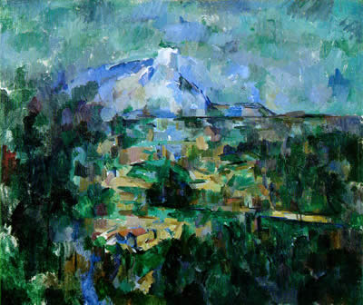 Mont Sainte Victoire seen from Les Lauves by Paul Cezanne