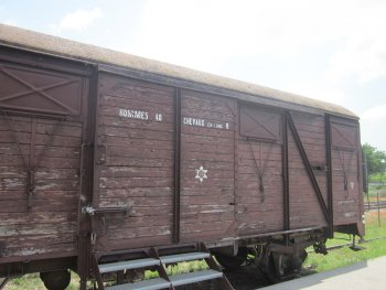 The Camp des Milles and train wagon for Jewish deportees