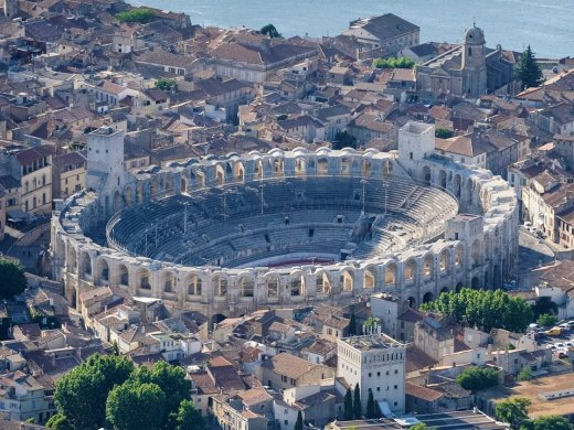 The Roman amphitheatre in Arles