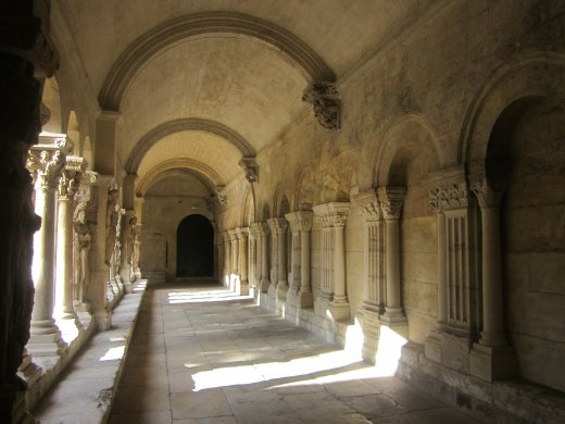The mediaeval cloisters of the Saint Trophime church in Arles