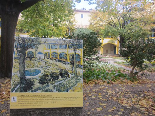 The hospital in Arles today and Vincent van Gogh's 1889 painting