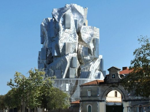 The design for Frank Gehry's forthcoming LUMA tower in Arles