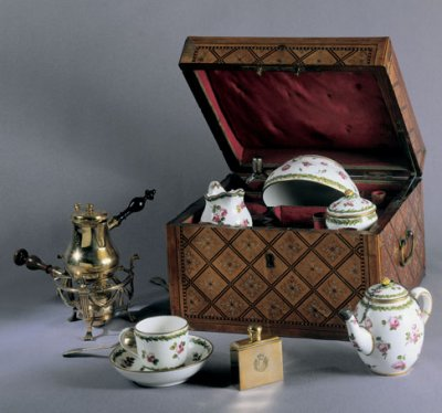 The Countess du Barry's personal portable tea service, in the Musee Louis Vouland, Avignon