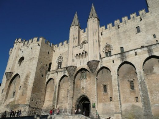 The Palais des Papes or Popes' Palace in Avignon