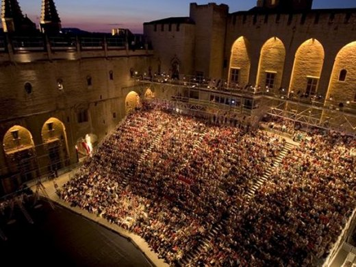 Avignon's main theatre festival at the Palais des Papes