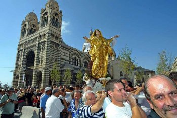 The Assumption Day Procession in Marseille, 15 August