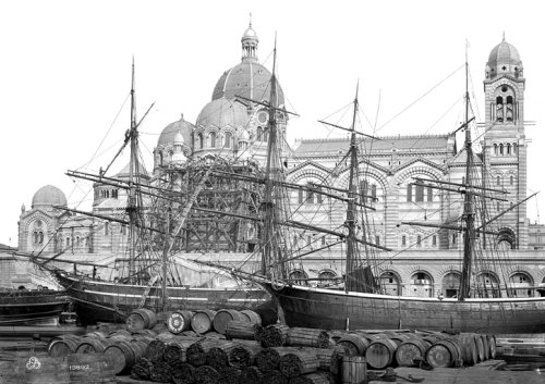 19th century view of Marseille cathedral