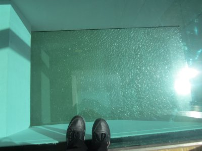 Glass Floor at the Villa Mediterranee Marseille