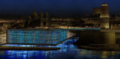 The MuCEM Marseille by night