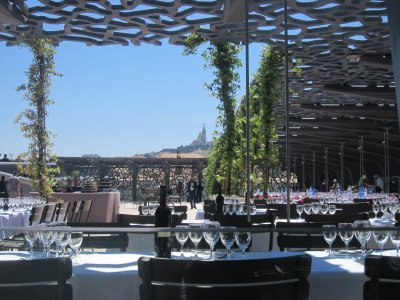 The rooftop restaurant at the MuCEM Marseille