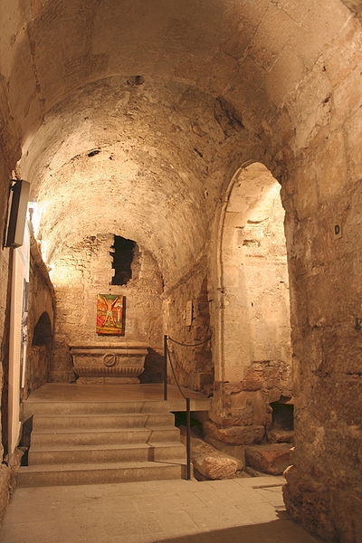 Part of the crypt of Saint Victor Abbey, Marseille