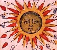 The sun card from the Tarot de Marseille