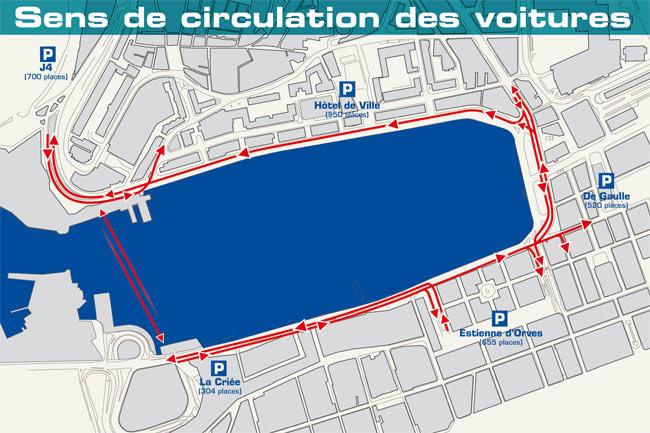 Mapa do trânsito em Marselha