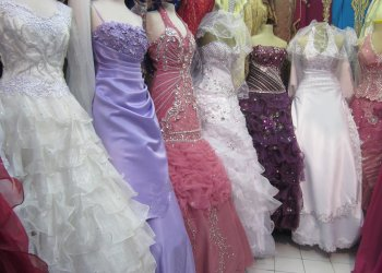 Wedding and banquet dresses, Marche du Soleil, Marseille