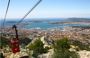 Toulon cable car up Mont Faron