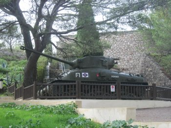Sherman tank and Allied Landings Memorial in Toulon
