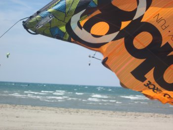kitesurfing beauduc beach