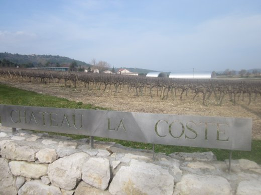 Château La Coste and Jean Nouvel's two futuristic, barrel-shaped, metallic winery buildings