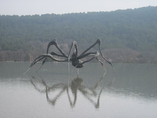 Louise Bourgeois' giant <em>Crouching Spider</em> (2003) at Château La Coste winery